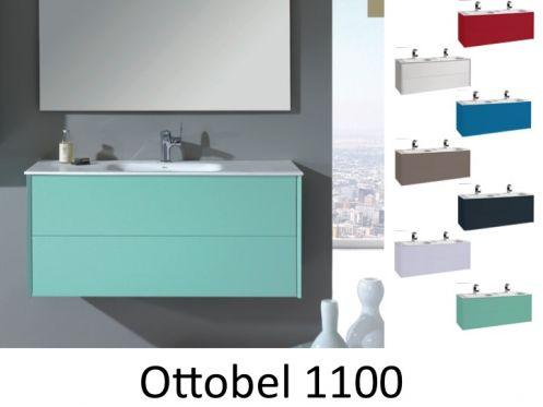 meubles lave mains robinetteries meuble teck meuble de salle de bain suspendu une vasque. Black Bedroom Furniture Sets. Home Design Ideas
