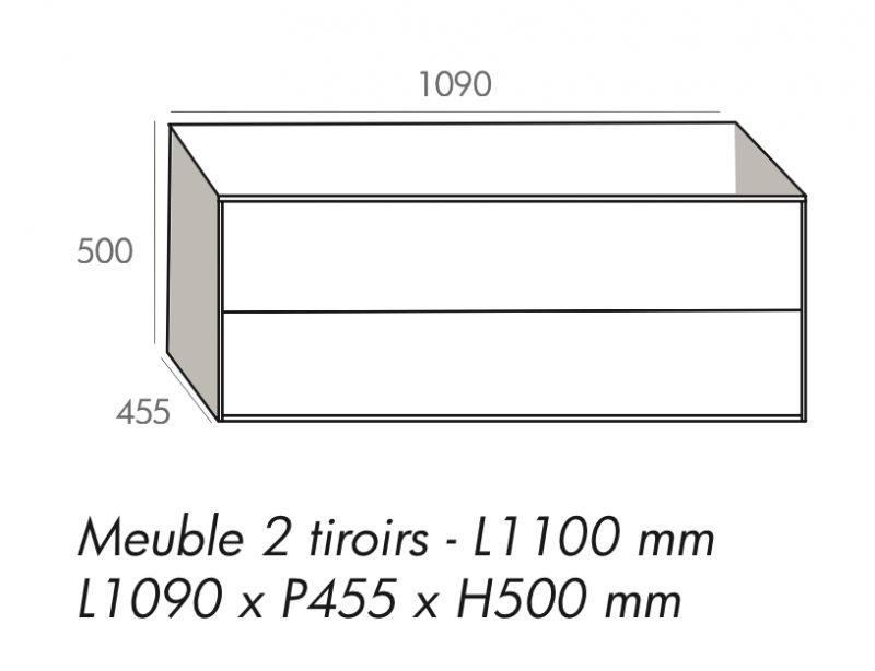 Meuble Salle De Bain 2 Vasques 110 Cm | Leidschendamfysiotherapie
