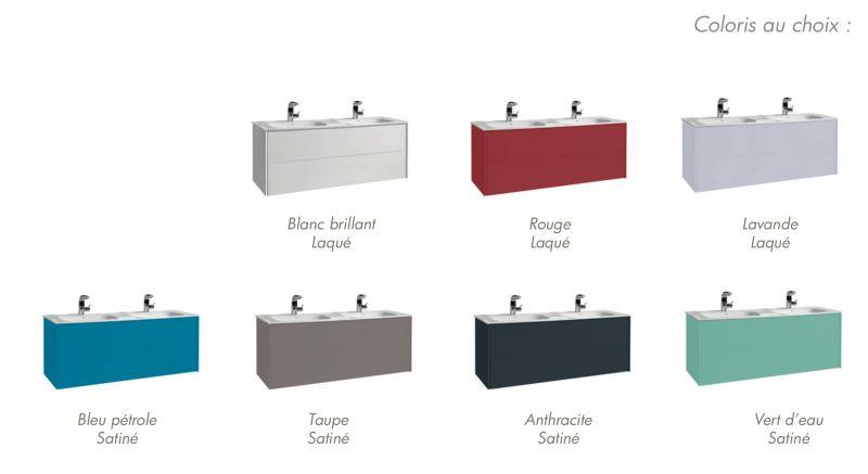 meubles lave mains robinetteries meuble teck meuble salle de bain suspendu deux tiroirs de. Black Bedroom Furniture Sets. Home Design Ideas