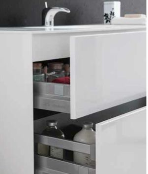 meubles lave mains robinetteries meubles sdb meuble de salle de bain 150 cm double vasque. Black Bedroom Furniture Sets. Home Design Ideas