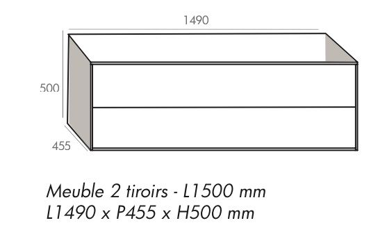 Meubles lave mains robinetteries meubles sdb meuble de salle de bain 150 - Meuble salle de bain 130 cm ...