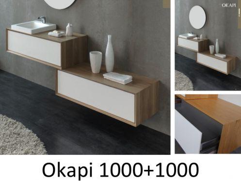 Meubles lave mains robinetteries meuble teck meuble de - Meuble salle de bain en chene massif ...
