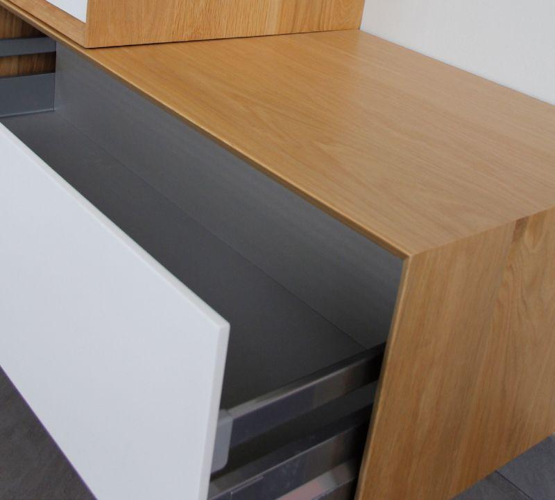 meuble de salle de bain 100 cm deux lments dcal suspendu en chne massif