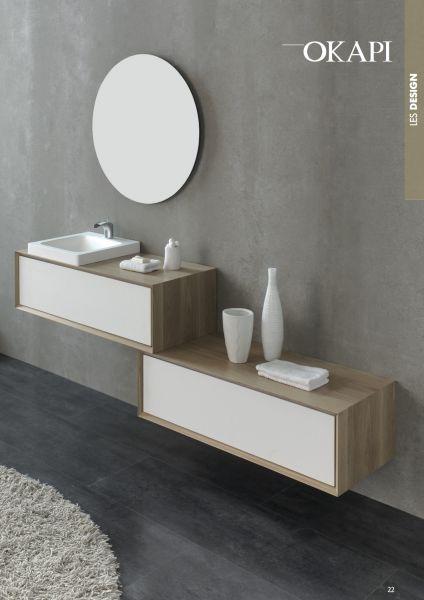 meubles lave mains robinetteries meuble teck meuble de salle de bain 100 cm deux l ments. Black Bedroom Furniture Sets. Home Design Ideas