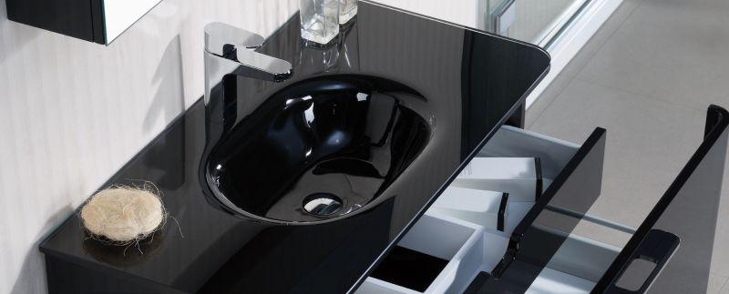meuble salle de bain noir 90 cm
