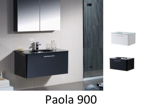 meubles lave mains robinetteries meubles sdb meuble de salle de bain 90 cm paola 900. Black Bedroom Furniture Sets. Home Design Ideas