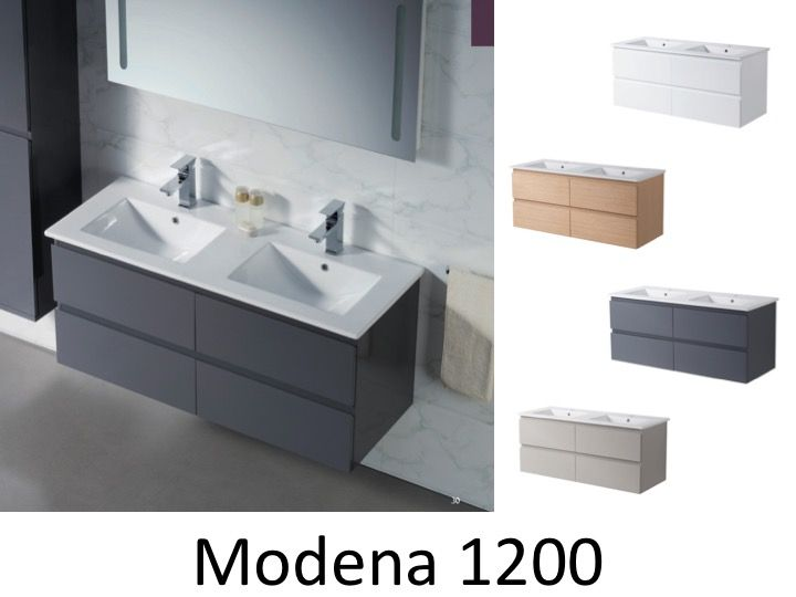 meuble salle de bain double vasques suspendu 120 cm modena 1200. Black Bedroom Furniture Sets. Home Design Ideas