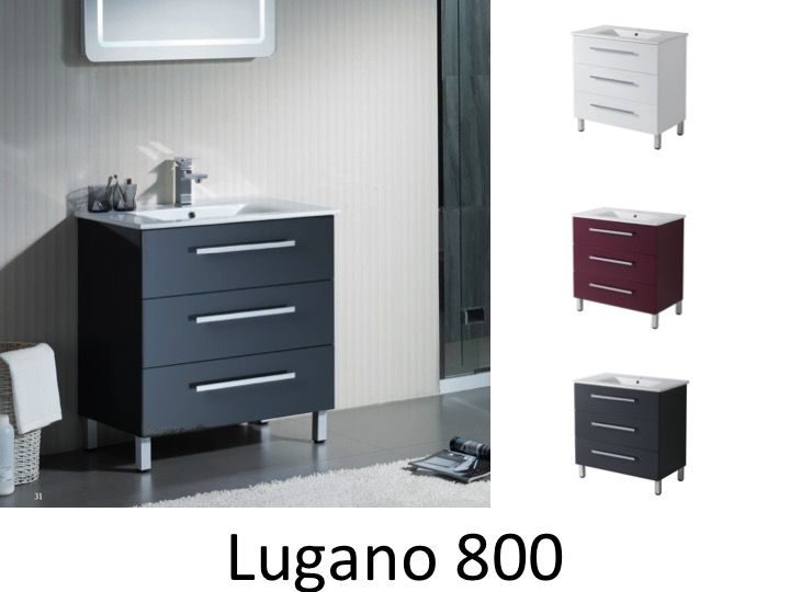 meubles lave mains robinetteries meubles sdb meuble de salle de bain 80 cm lugano 800. Black Bedroom Furniture Sets. Home Design Ideas