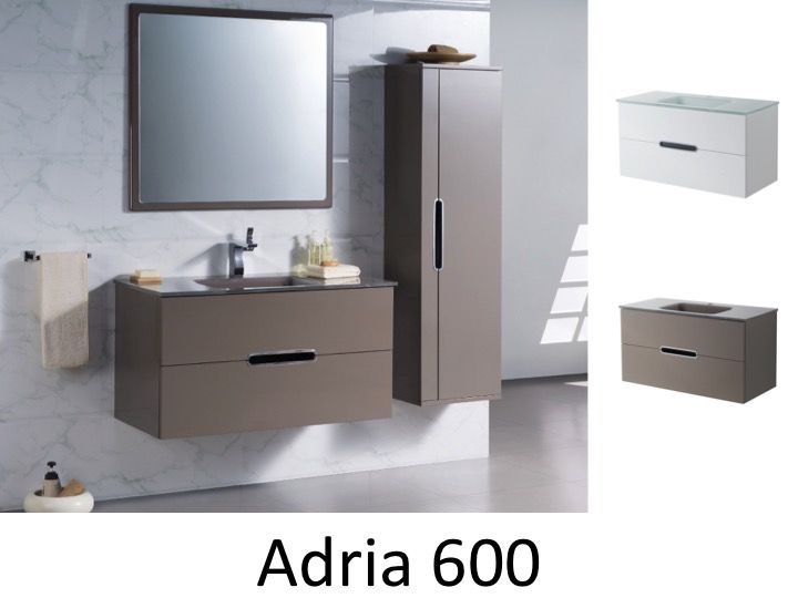 meubles lave mains robinetteries meubles sdb meuble de salle de bain 60 cm adria 600. Black Bedroom Furniture Sets. Home Design Ideas