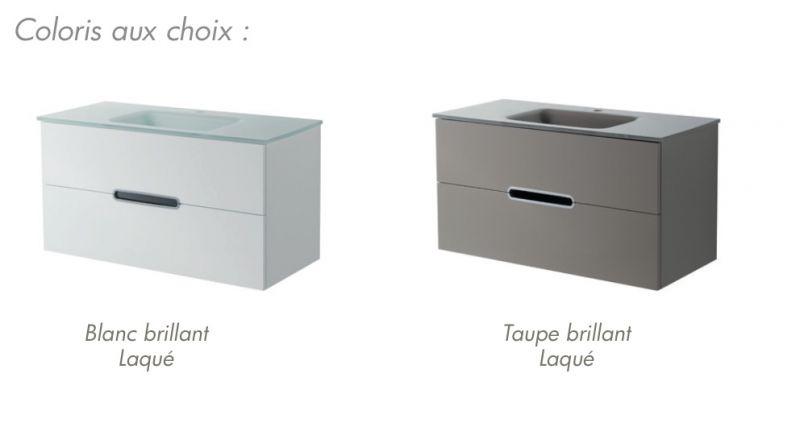 Meubles lave mains robinetteries meubles sdb meuble de salle de bain susp - Meuble salle de bain 130 cm ...