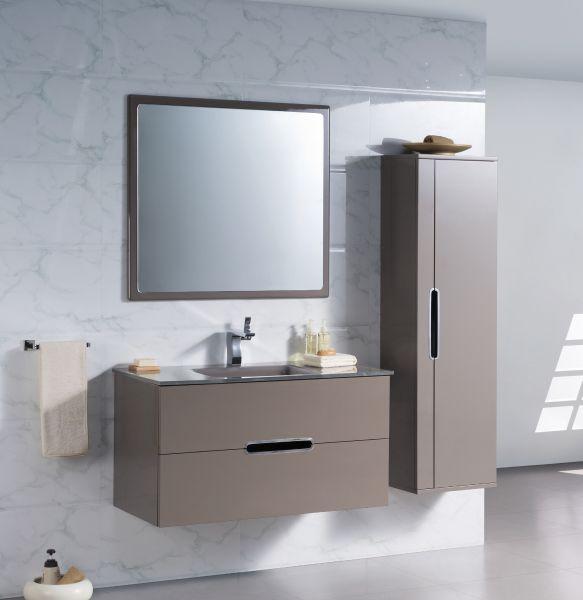 Meuble tv blanc et taupe - Meuble salle de bain blanc et bois ...