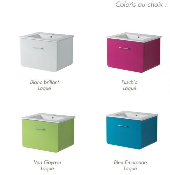 Meubles lave mains robinetteries meubles sdb meuble de - Meuble de salle de bain bleu ...