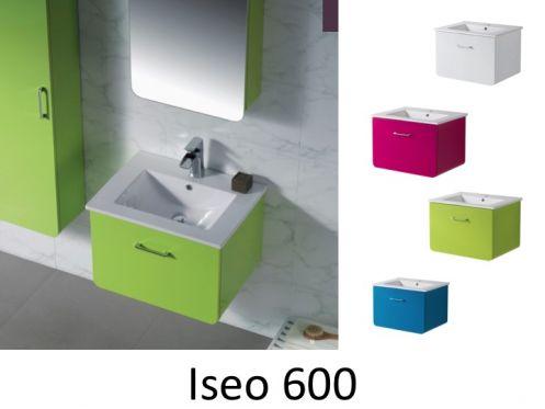 meubles lave mains robinetteries meubles sdb meuble de salle de bain 60 cm iseo 600. Black Bedroom Furniture Sets. Home Design Ideas