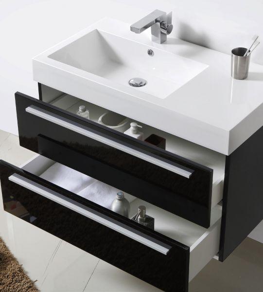 meuble salle de bain ikea noir - Meuble Salle De Bain Noir Laque