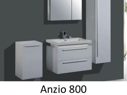 meubles lave mains robinetteries meuble teck meuble de salle de bain suspendu en 80 cm. Black Bedroom Furniture Sets. Home Design Ideas