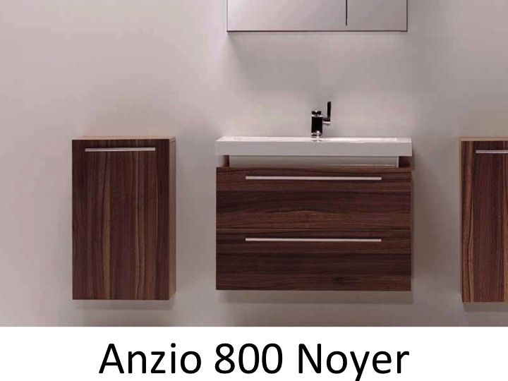 meubles lave mains robinetteries meubles sdb meuble de salle de bain 80 cm anzio 800 noyer. Black Bedroom Furniture Sets. Home Design Ideas