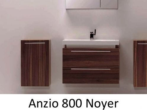 meubles lave mains robinetteries meuble teck meuble de salle de bain suspendu en 80 cm. Black Bedroom Furniture Sets. Home Design Ideas