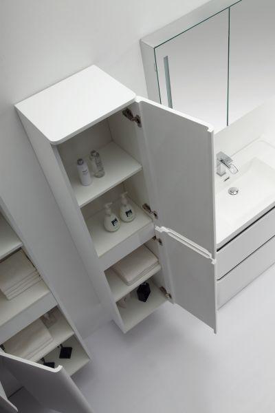 meuble salle de bain en 60 ou 90 cm blanc brillant poser. Black Bedroom Furniture Sets. Home Design Ideas