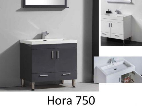 meubles lave mains robinetteries meubles sdb meuble de salle de bain 75 cm hora 750blanc ou. Black Bedroom Furniture Sets. Home Design Ideas