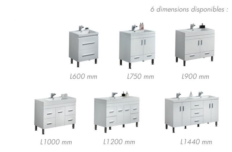 p 146185 3 meuble de salle de bain sur pieds 75 cm blanc ou gris laque   hora 750 Résultat Supérieur 15 Unique Dimension Meuble Salle De Bain Photos 2018 Xzw1
