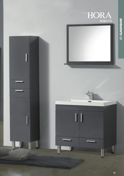 meubles lave mains robinetteries meubles sdb meuble de salle de bain 75 cm hora 750blanc ou. Black Bedroom Furniture Sets. Home Design Ideas
