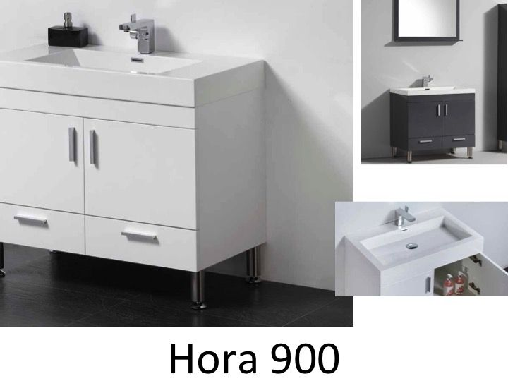 meubles lave mains robinetteries meubles sdb meuble de salle de bain 90 cm hora 900 blanc. Black Bedroom Furniture Sets. Home Design Ideas