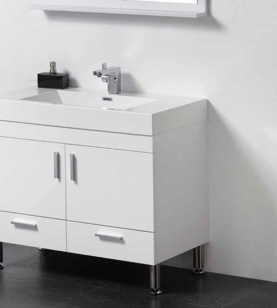 meubles lave mains robinetteries meuble teck meuble de salle de bain sur pieds 90 cm blanc. Black Bedroom Furniture Sets. Home Design Ideas