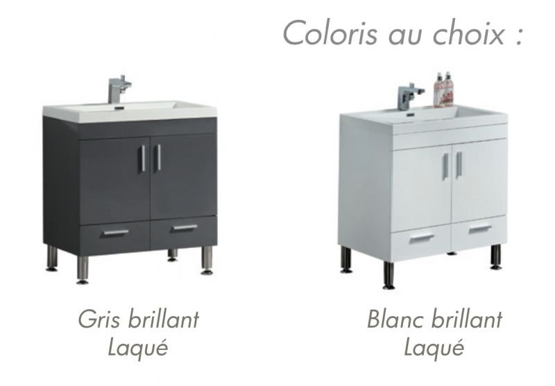 Meubles lave mains robinetteries meubles sdb meuble de salle de bain 144 - Meuble de salle de bain 50 cm ...