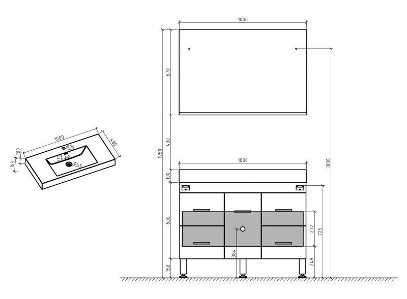 Hauteur Meuble De Salle De Bain : Hauteur plan vasque sdb obasinc