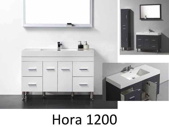 meubles lave mains robinetteries meubles sdb meuble de salle de bain 120 cm hora 1200 blanc. Black Bedroom Furniture Sets. Home Design Ideas