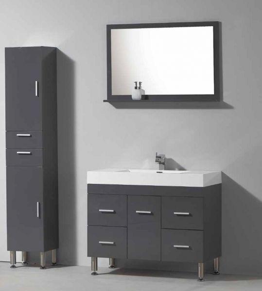 meuble de salle de bain sur pieds avec une vasque de 120 cm blanc ou gris laqu hora 1200. Black Bedroom Furniture Sets. Home Design Ideas