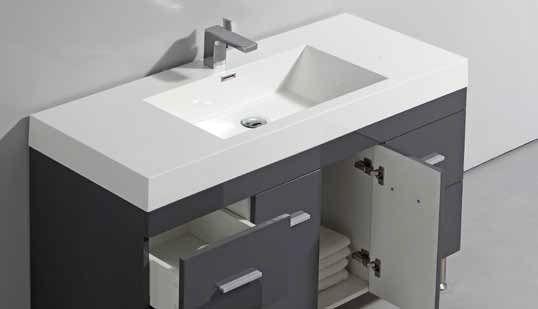 meuble de salle de bain sur pieds 100 cm blanc ou gris. Black Bedroom Furniture Sets. Home Design Ideas