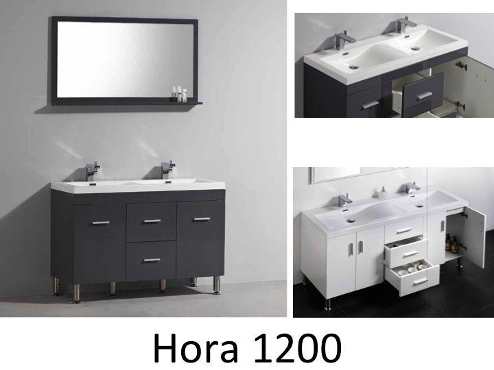 meubles lave mains robinetteries meuble teck meuble de salle de bain sur pieds avec double. Black Bedroom Furniture Sets. Home Design Ideas