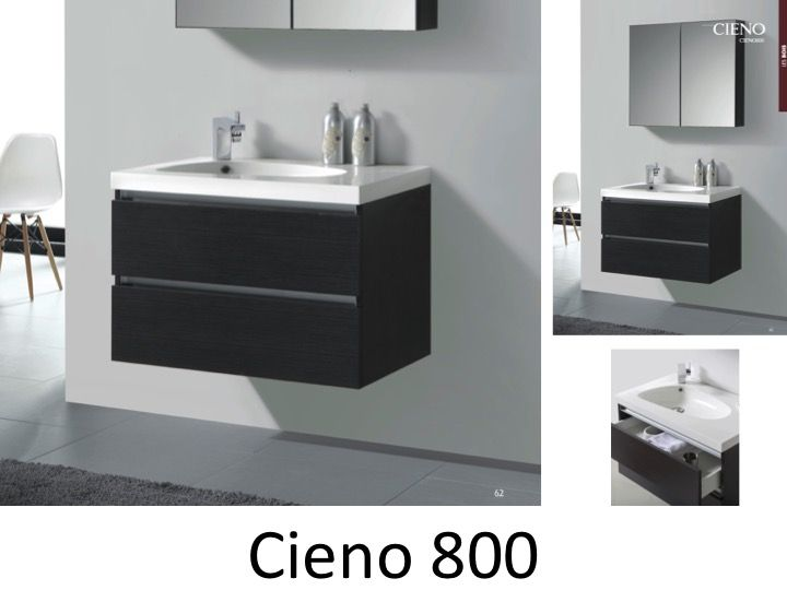 Meubles lave mains robinetteries meubles sdb meuble de salle de bain 80 c - Meuble de salle de bain gris ...
