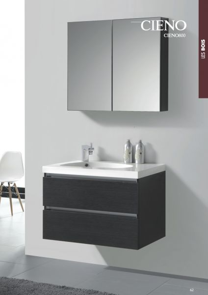 Meubles de salle de bain vert for Salle de bain gris et vert