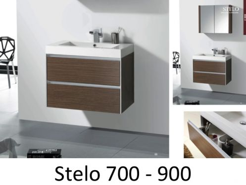 meubles lave mains robinetteries meubles sdb meuble de salle de bain 70 ou 90 cm stelo700 ou. Black Bedroom Furniture Sets. Home Design Ideas