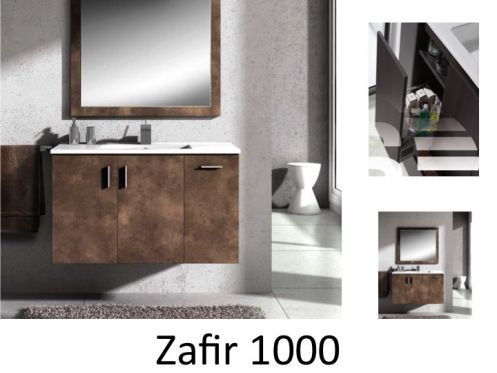 meubles lave mains robinetteries meuble sdb meuble de salle de bain 100 cm zafir p. Black Bedroom Furniture Sets. Home Design Ideas