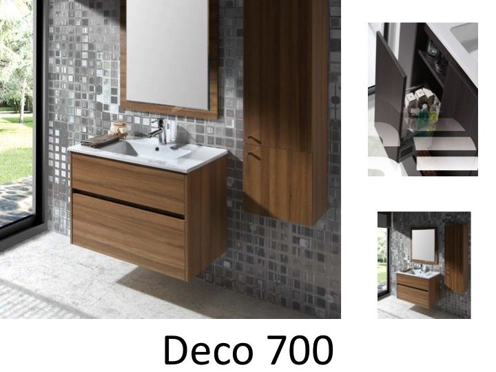Meubles lave mains robinetteries meuble sdb meuble de salle de bain 70 cm deco t for Meuble deco salle de bain