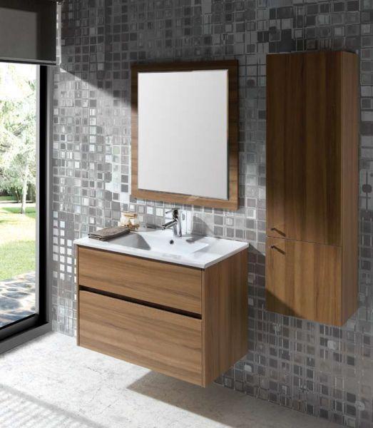 meubles lave mains robinetteries meuble sdb meuble de salle de bain 90 cm deco t. Black Bedroom Furniture Sets. Home Design Ideas