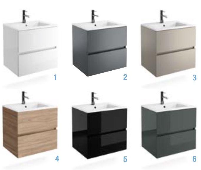 Meubles lave mains robinetteries meuble sdb meuble de salle de bain 60 cm fussion line 600 - Meuble salle de bain profondeur 38 ...