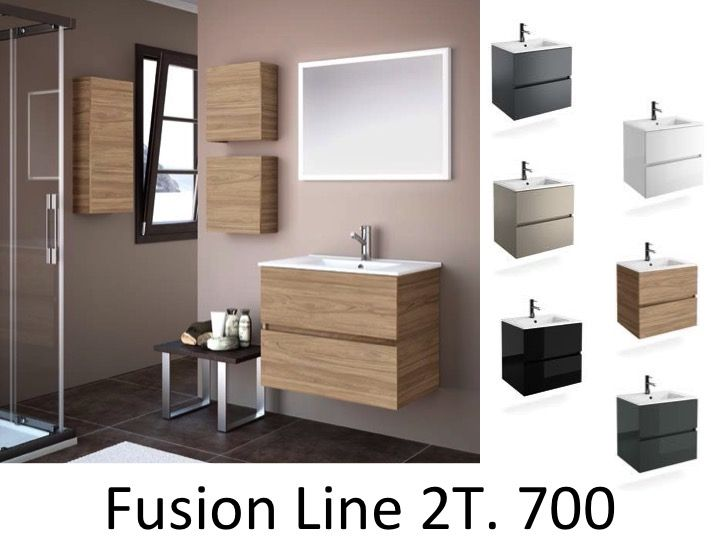 meubles lave mains robinetteries meuble sdb meuble de salle de bain 70 cm fussion line 700. Black Bedroom Furniture Sets. Home Design Ideas