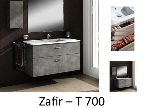 meubles lave mains robinetteries meuble sdb meuble de salle de bain 70 cm zafir t. Black Bedroom Furniture Sets. Home Design Ideas