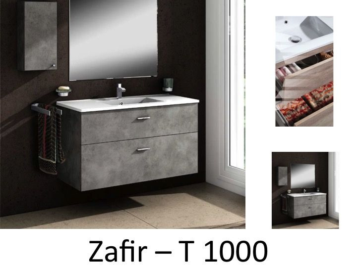 meubles lave mains robinetteries meuble sdb meuble de salle de bain 100 cm zafir t. Black Bedroom Furniture Sets. Home Design Ideas