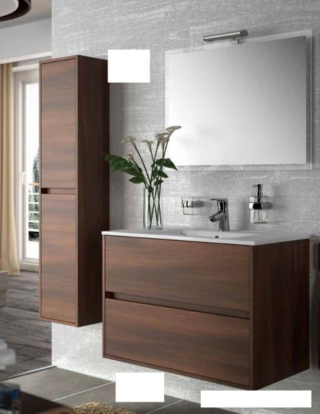 meubles lave mains robinetteries meuble sdb meuble de salle de bain 60 cm noja 600 2 tiroirs. Black Bedroom Furniture Sets. Home Design Ideas