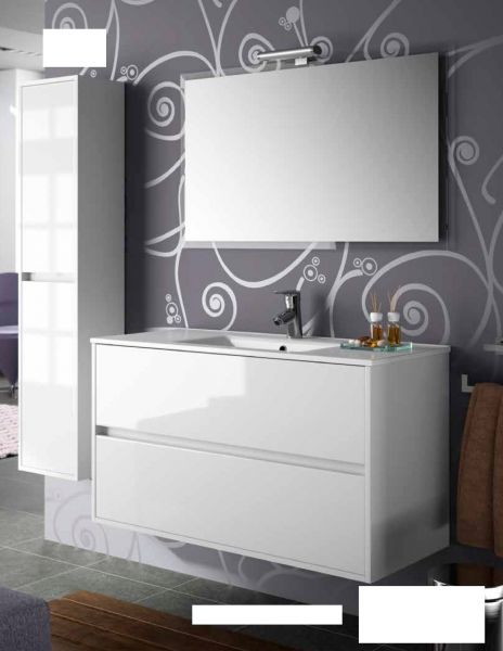 meubles lave mains robinetteries meuble sdb meuble de salle de bain 90 cm noja 900 2 tiroirs. Black Bedroom Furniture Sets. Home Design Ideas