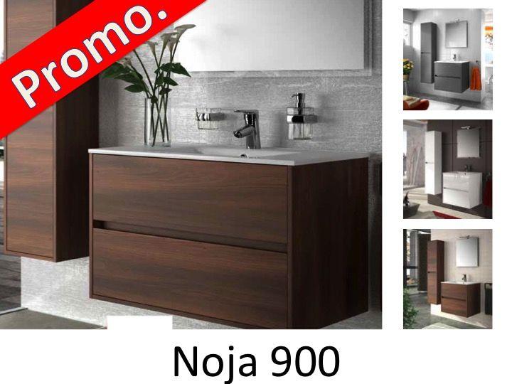 meuble salle de bain noja 900