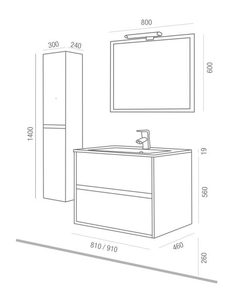 Meubles lave mains robinetteries meuble sdb meuble de for Monter meuble salle de bain