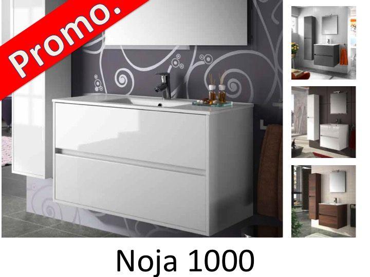 meuble salle de bain suspendu 100 cm