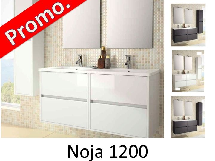 meubles lave mains robinetteries meuble sdb meuble de salle de bain 120 cm noja 1200 2. Black Bedroom Furniture Sets. Home Design Ideas