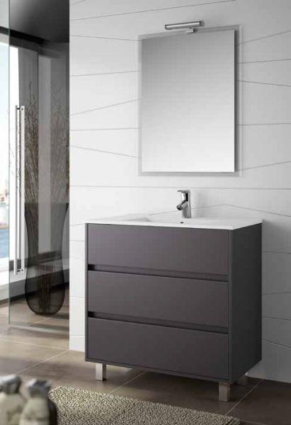 meuble salle de bain avec pied